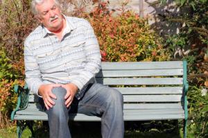 elderly man with arthritis